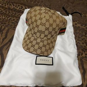 Gucci gg canvas baseball hat tan Large